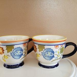 Threshold set of 2 coffee mugs